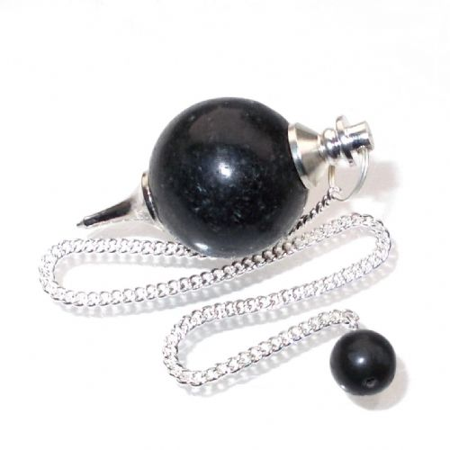 Nuummite Ball Pendulum Crystal Dowser